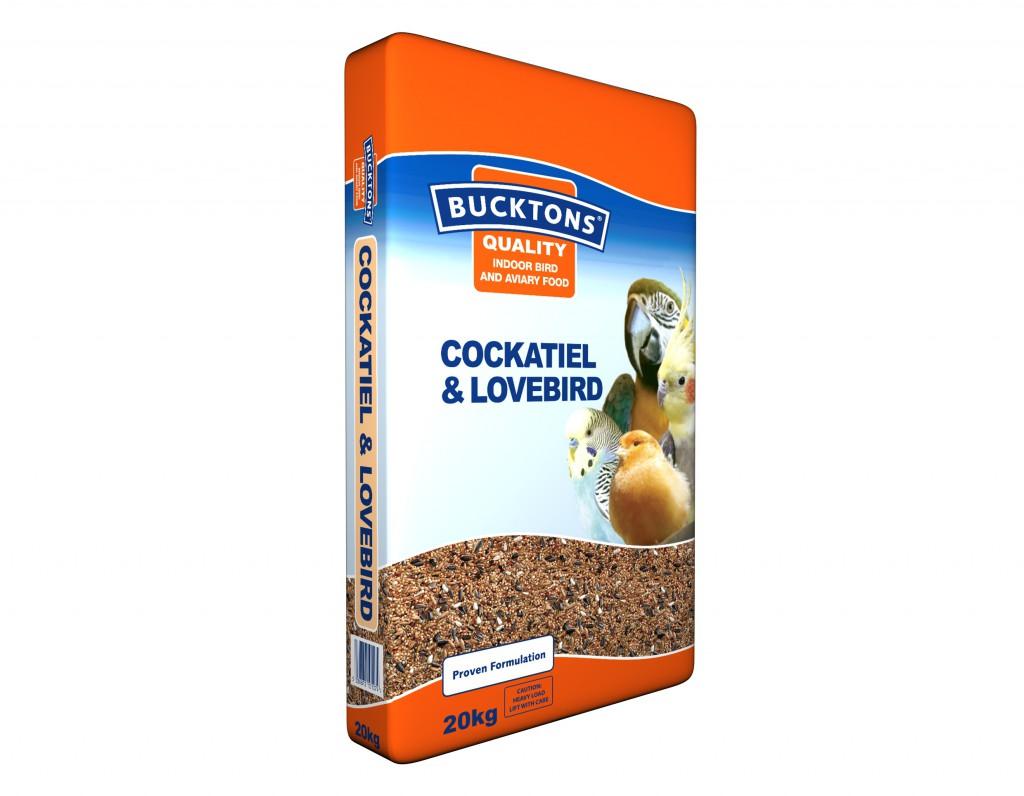 Bucktons Indoor & Aviary Cockatiel & Lovebird 3D