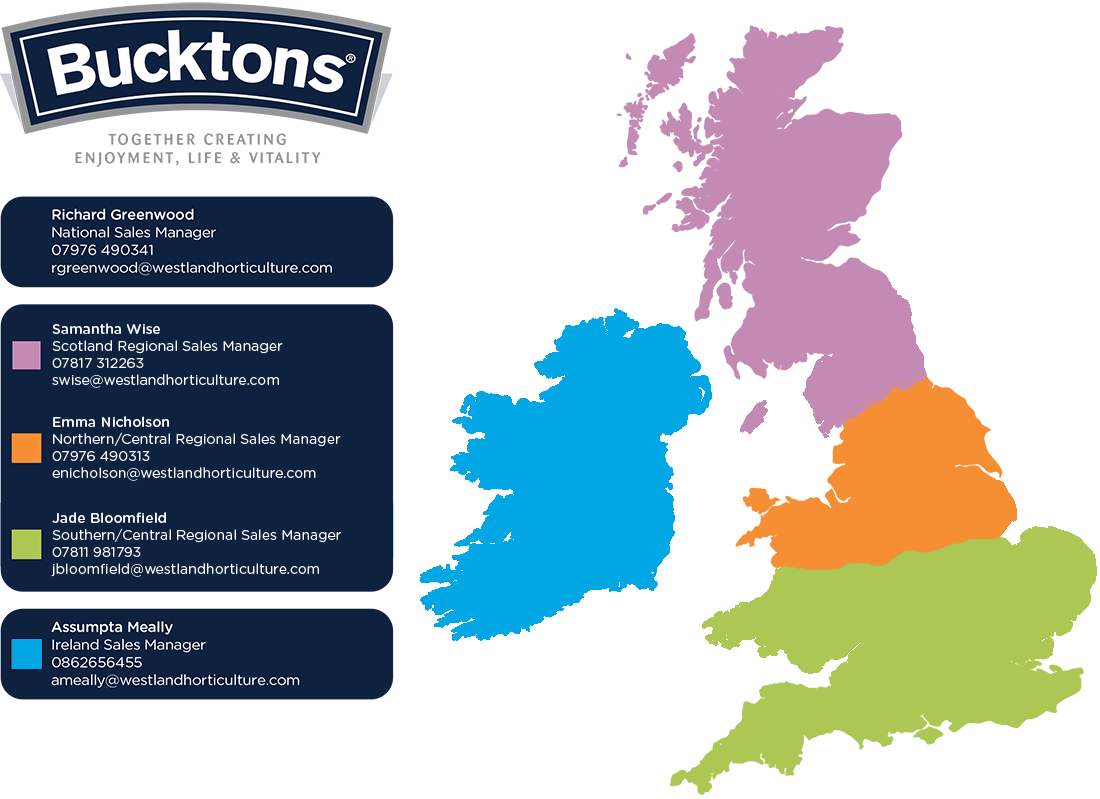trade bucktons like further information about our products please click on the map below for the contact details of the bucktons territory manager for your area