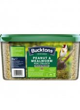 bucktons-wild-bird-peanut-mealworm-suet-pellet-3kg-tub