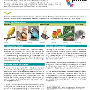 Indoor Bird Fact Sheet