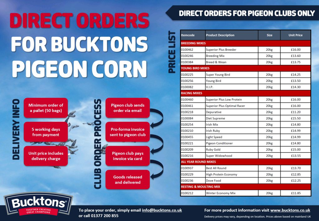 Pigeon Clubs - Order Direct